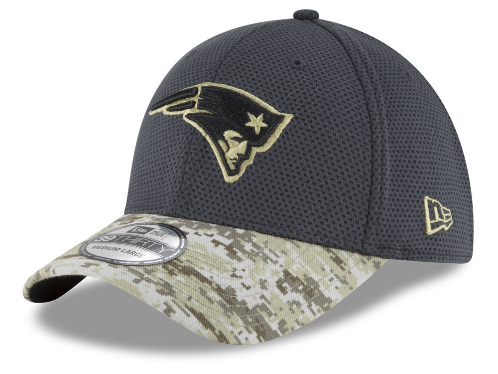 New England Patriots New Era NFL Salute to Service Official 39THIRTY Cap  4556a541d88