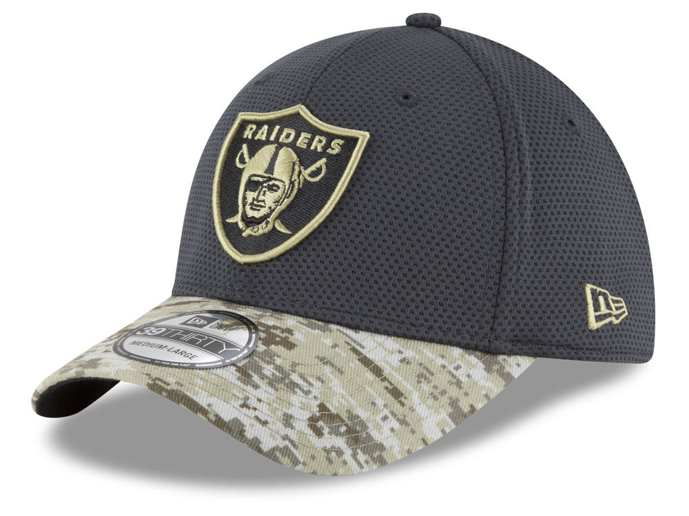 7cf3287fb3b Oakland Raiders New Era NFL Salute to Service Official 39THIRTY Cap ...