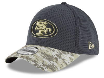 San Francisco 49ers New Era NFL Salute to Service Official 39THIRTY Cap