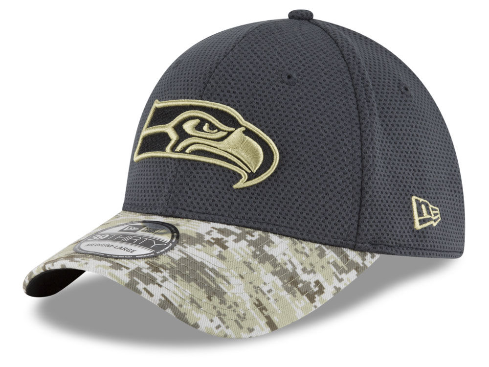 b3852eab5 Seattle Seahawks New Era NFL Salute to Service Official 39THIRTY Cap ...