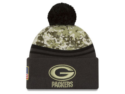 Green Bay Packers New Era NFL Salute to Service Official Pom Knit