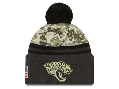 Jacksonville Jaguars New Era NFL Salute to Service Official Pom Knit