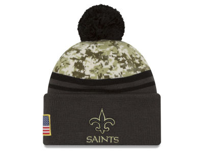 New Orleans Saints New Era NFL Salute to Service Official Pom Knit