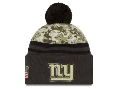 New York Giants New Era NFL Salute to Service Official Pom Knit