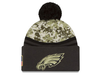 Philadelphia Eagles New Era NFL Salute to Service Official Pom Knit