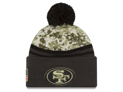 San Francisco 49ers New Era NFL Salute to Service Official Pom Knit