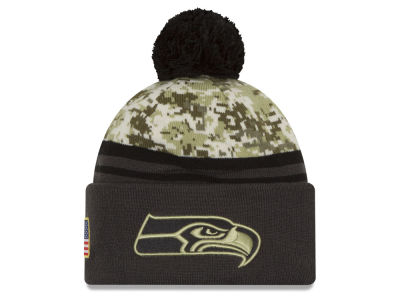 Seattle Seahawks New Era NFL Salute to Service Official Pom Knit