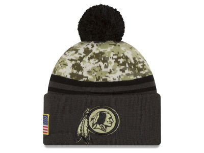 Washington Redskins New Era NFL Salute to Service Official Pom Knit