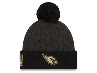 Arizona Cardinals New Era NFL Salute to Service Women's Pom Knit