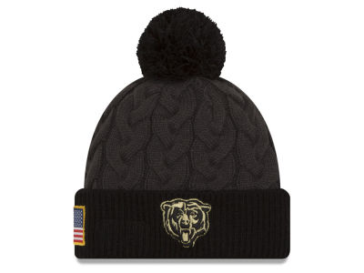 Chicago Bears New Era NFL Salute to Service Women's Pom Knit