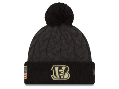 Cincinnati Bengals New Era NFL Salute to Service Women's Pom Knit