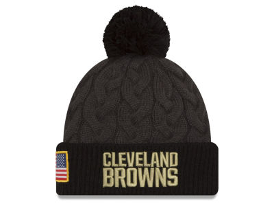 Cleveland Browns New Era NFL Salute to Service Women's Pom Knit