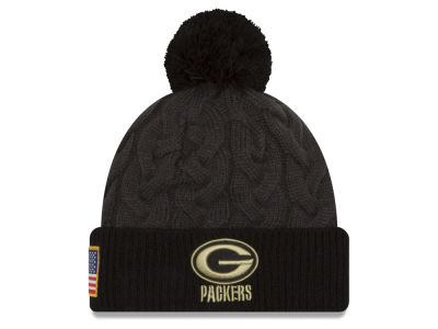 Green Bay Packers New Era NFL Salute to Service Women's Pom Knit