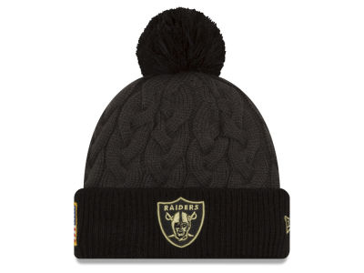 Oakland Raiders New Era NFL Salute to Service Women's Pom Knit
