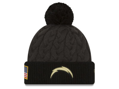 San Diego Chargers New Era NFL Salute to Service Women's Pom Knit