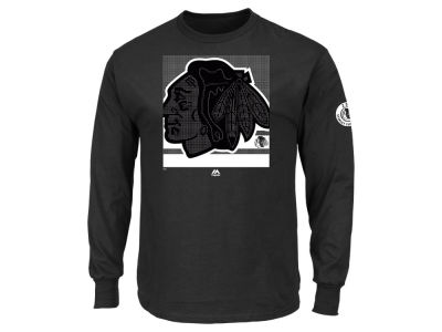 Chicago Blackhawks Majestic NHL Men's Slashing Long Sleeve T-shirt