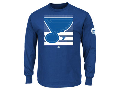 St. Louis Blues Majestic NHL Men's Slashing Long Sleeve T-shirt