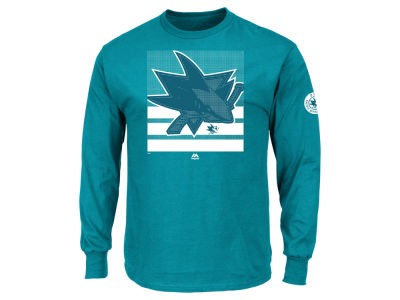 San Jose Sharks Majestic NHL Men's Slashing Long Sleeve T-shirt