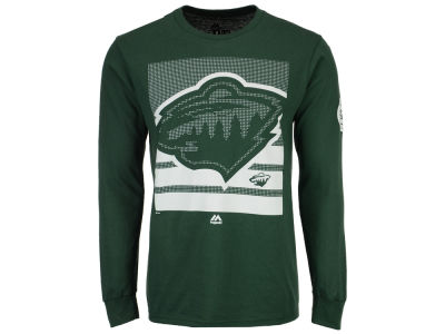 Minnesota Wild Majestic NHL Men's Slashing Long Sleeve T-Shirt