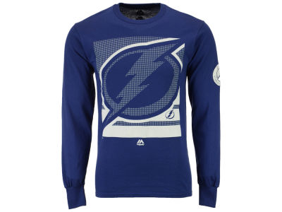Tampa Bay Lightning Majestic NHL Men's Slashing Long Sleeve T-shirt