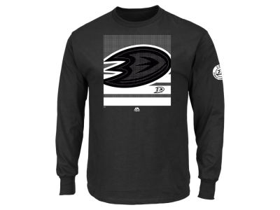 Anaheim Ducks Majestic NHL Men's Slashing Long Sleeve T-Shirt