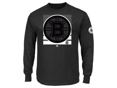 Boston Bruins Majestic NHL Men's Slashing Long Sleeve T-Shirt