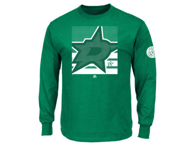 Dallas Stars Majestic NHL Men's Slashing Long Sleeve T-shirt