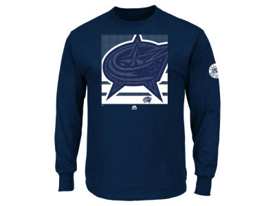 Columbus Blue Jackets Majestic NHL Men's Slashing Long Sleeve T-shirt