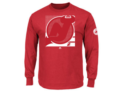New Jersey Devils Majestic NHL Men's Slashing Long Sleeve T-shirt