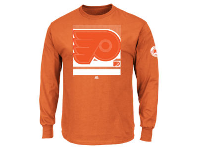 Philadelphia Flyers Majestic NHL Men's Slashing Long Sleeve T-Shirt