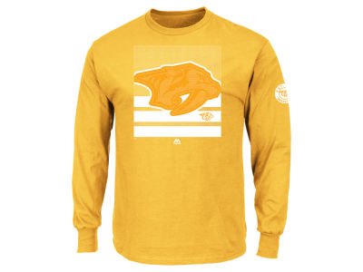 Nashville Predators Majestic NHL Men's Slashing Long Sleeve T-shirt