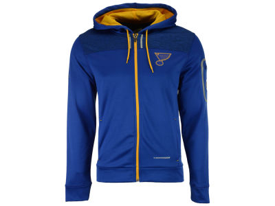 St. Louis Blues Majestic NHL Men's Hashmarks Full Zip Hooded Jacket