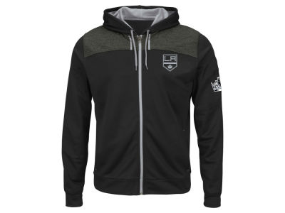 Los Angeles Kings Majestic NHL Men's Hashmarks Full Zip Hooded Jacket