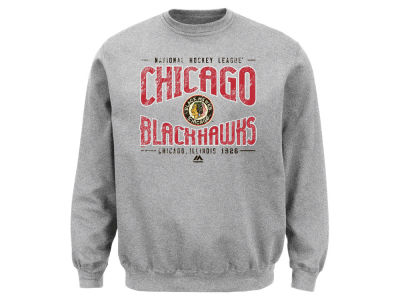 Chicago Blackhawks Majestic NHL Men's Ice Classic Crew Sweatshirt