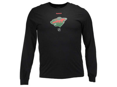 Minnesota Wild Reebok NHL Men's Logo Reflect Long Sleeve T-Shirt