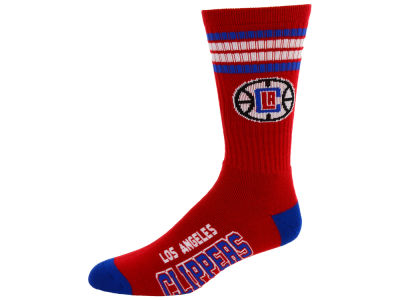 Los Angeles Clippers For Bare Feet 4 Stripe Deuce Crew Socks