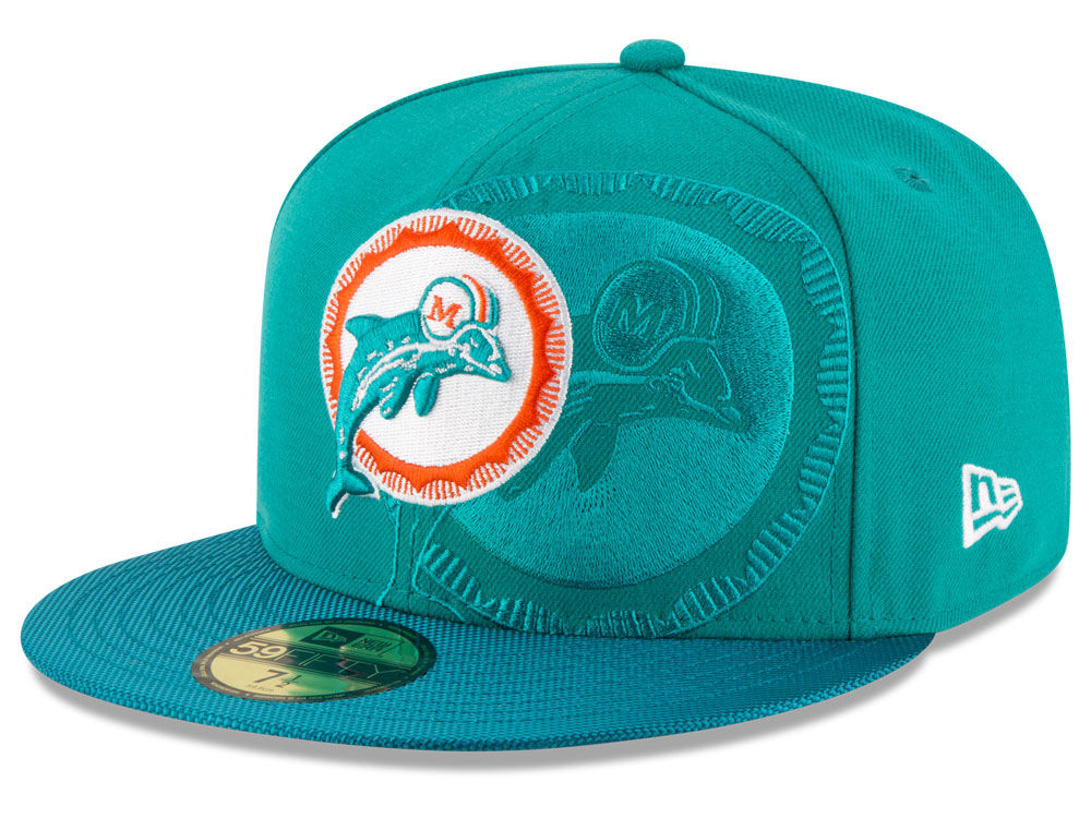 b479ebb7d9d Miami Dolphins New Era 2016 Official NFL Sideline 59FIFTY Cap