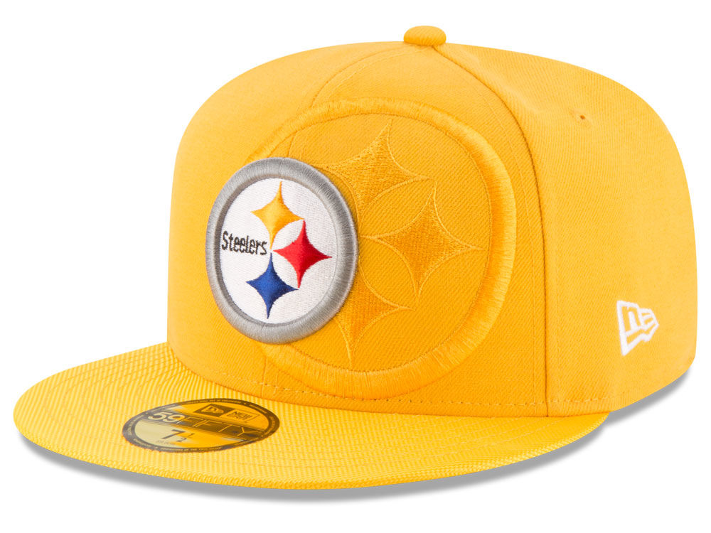 26a638733bd Pittsburgh Steelers New Era 2016 Official NFL Sideline 59FIFTY Cap ...