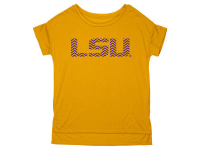 LSU Tigers Blue 84 NCAA Women's Liquid Jersey Oversize T-Shirt