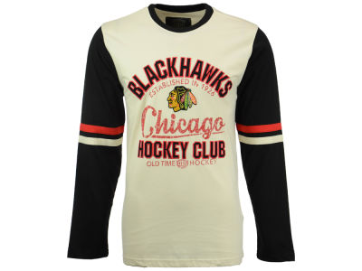 Chicago Blackhawks Old Time Hockey NHL Men's Chisel Long Sleeve T-Shirt