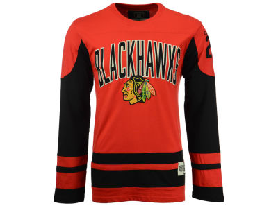 Chicago Blackhawks Old Time Hockey NHL Men's Crush Henley Long Sleeve T-Shirt