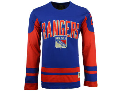 New York Rangers Old Time Hockey NHL Men's Dufferin Hooded Long Sleeve T-Shirt
