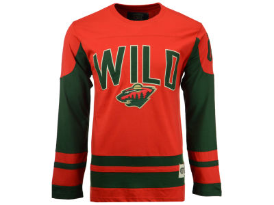 Minnesota Wild Old Time Hockey NHL Men's Dufferin Hooded Long Sleeve T-Shirt