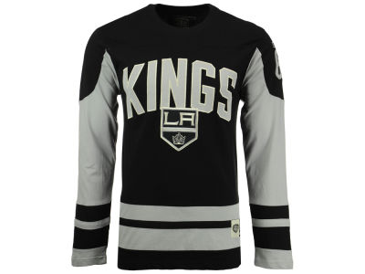 Los Angeles Kings Old Time Hockey NHL Men's Dufferin Hooded Long Sleeve T-Shirt