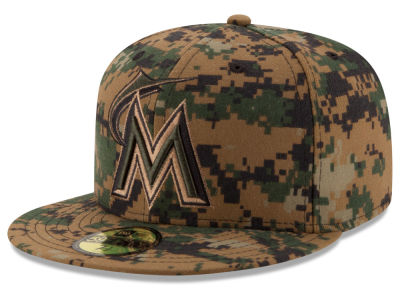Miami Marlins New Era MLB 2016 Memorial Day 59FIFTY Cap