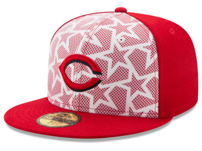 Cincinnati Reds New Era 2016 MLB AC Stars & Stripes 59FIFTY Cap