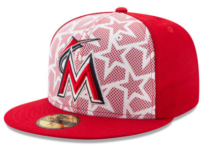 Miami Marlins New Era 2016 MLB AC Stars & Stripes 59FIFTY Cap