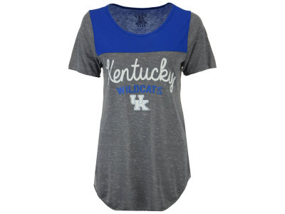 Kentucky Wildcats Blue 84 NCAA Women's Confetti Yolk Block T-Shirt