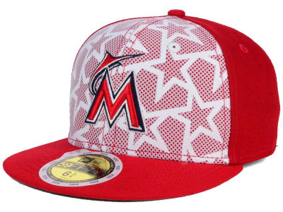 Miami Marlins New Era 2016 MLB Kids AC Stars & Stripes 59FIFTY Cap