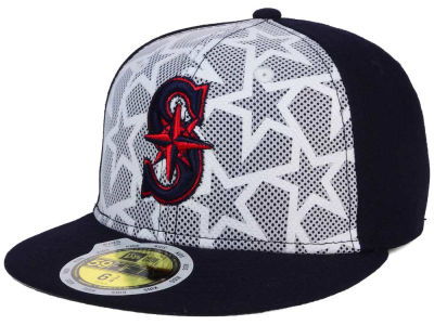 Seattle Mariners New Era 2016 MLB Kids AC Stars & Stripes 59FIFTY Cap